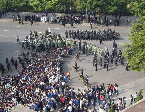Streik der ElektronikarbeiterInnen 2007. Quelle: libcom.org