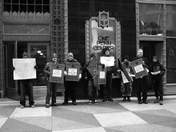 29. Januar: Mitglieder der IWW Philadelphia protestierten mit einem Picket vor dem deutschen Konsulat gegen das de facto-Gewerkschaftsverbot. Dem Botschafter wurde eine Protestnote übergeben.