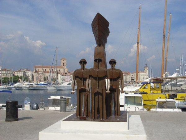 Denkmal für die Asbest-Opfer in dem Werften-Städtchen La Ciotat (Frankreich), seit dem 28. April 2007