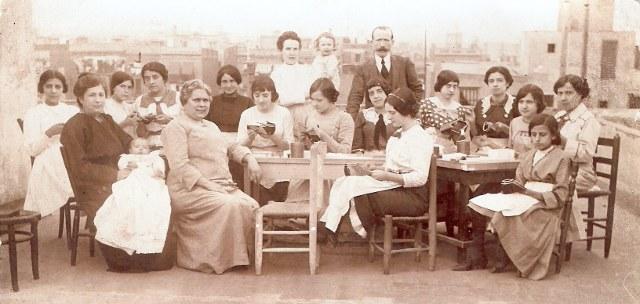 Schumacherinnen in Barcelona 1920