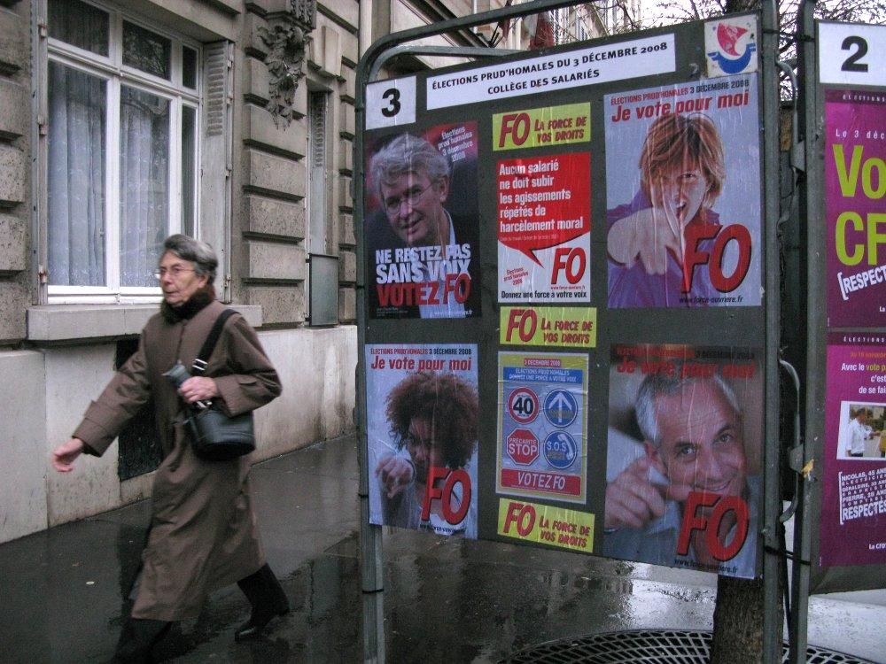 Betriebsratswahlkampf 2008 in Frankreich ©Whisperpress