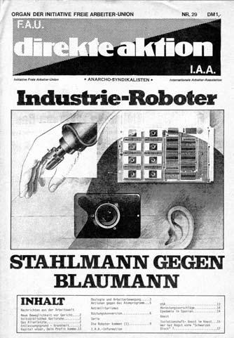 Stahlmann gegen Blaumann – Titelblatt der DA Nr. 29 aus dem Jahr 1981