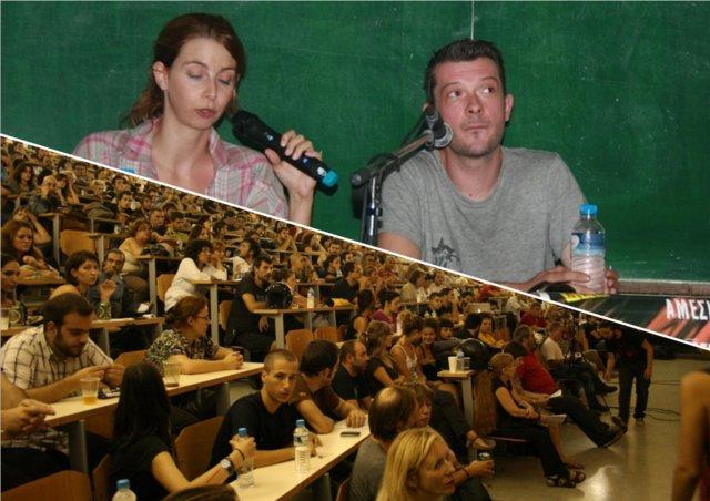 Lars Röhm von der FAU Berlin unterrichtet das Publikum in deutschem Gewerkschaftsrecht (Fotos: Babylonia)