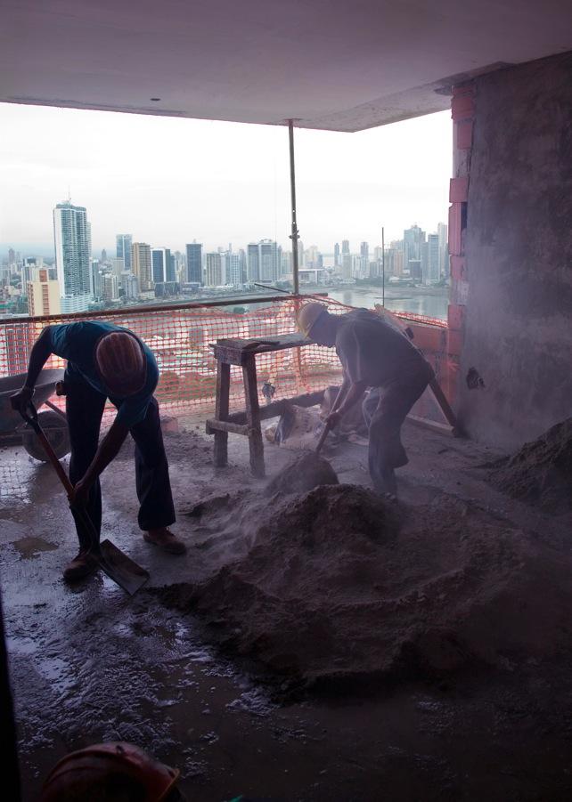 Schuften für den Boom: Bauarbeiter in Panama-City