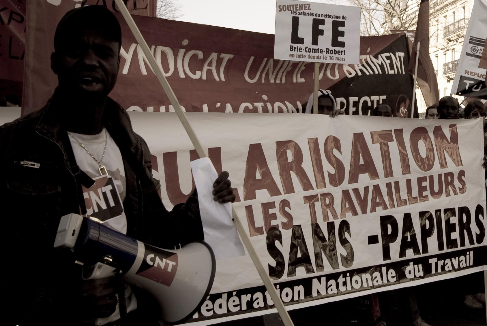 In Frankreich sind Illegalisierte bereits Teil der Arbeiterbewegung (Foto: Victor Ferrer)