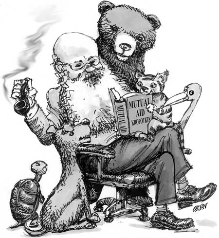 Kropotkin und die Tiere (Quelle: libcom.org)