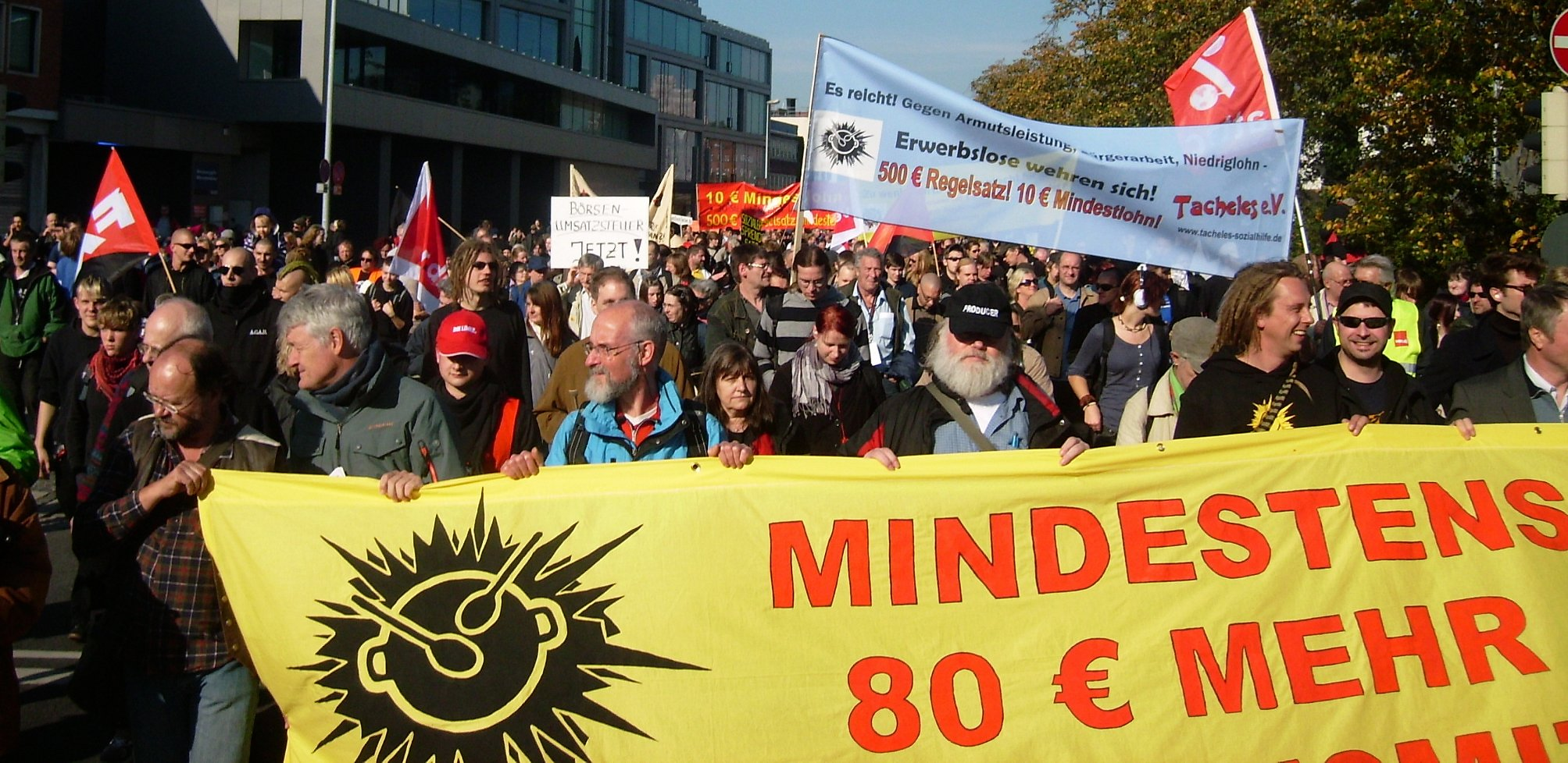 Bundesweite Erwerbslosendemonstration in Oldenburg am 10. Oktober 2010 (Quelle: Erwerbslosen Forum Deutschland)
