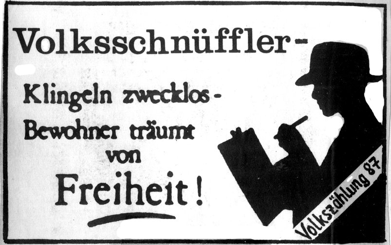 Spucki zum Volkszählungsboykott anno 1987