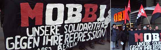Kundgebung vor OBI in Berlin-Prenzlauer Berg am 25. Februar 2011