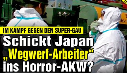"""Die """"Bild"""" entrüstet sich über den Einsatz von """"Wegwerf-Arbeitern"""". Ob sie die Ausbeutung von Leiharbeitern in europäischen AKW ebenso bestürzend findet?"""