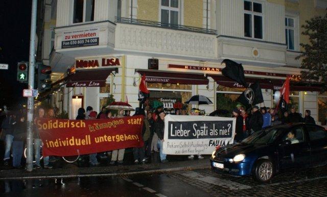 Kundgebung Mitte Oktober in Friedrichshain