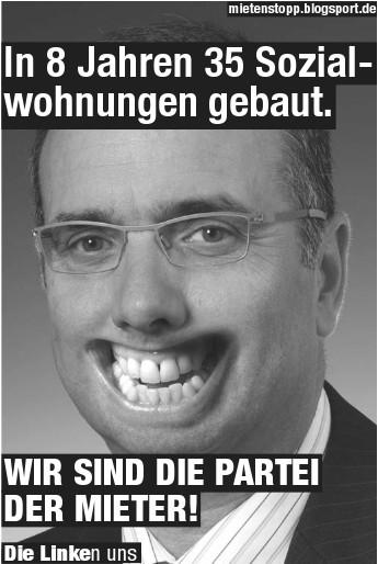 Plakat des Mietenstopp-Bündnisses