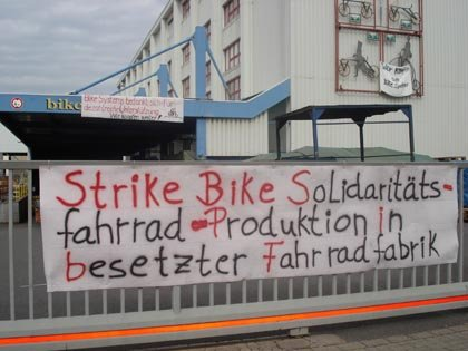 In der besetzten Fahrradfabrik in Nordhausen wurden 2007 in Eigenregie knapp 2.000 Fahrräder gefertigt.