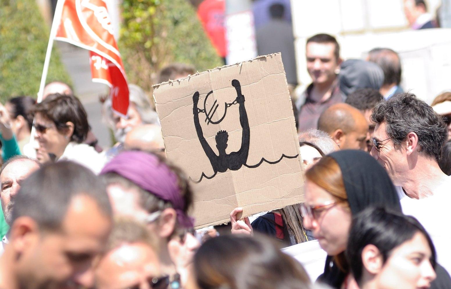 Demonstration zum Generalstreik in Spanien (Autor: Ildefonso Sanchez Carretero, Guerrero G.A., Quelle: flickr)