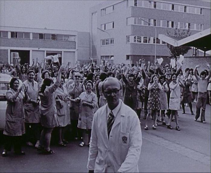 """Szene aus dem Film """"Pierburg - Ihr Kampf ist unser Kampf"""" (1974/75)"""
