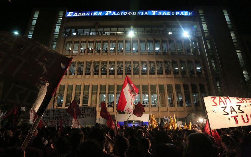 Die Solidaritätsbewegung mit dem Staatssender ERT könnte eine Brücke zwischen den verschiedenen AkteurInnen der Sozialproteste in Griechenland bauen (Quelle: afunke.blogsport.de)