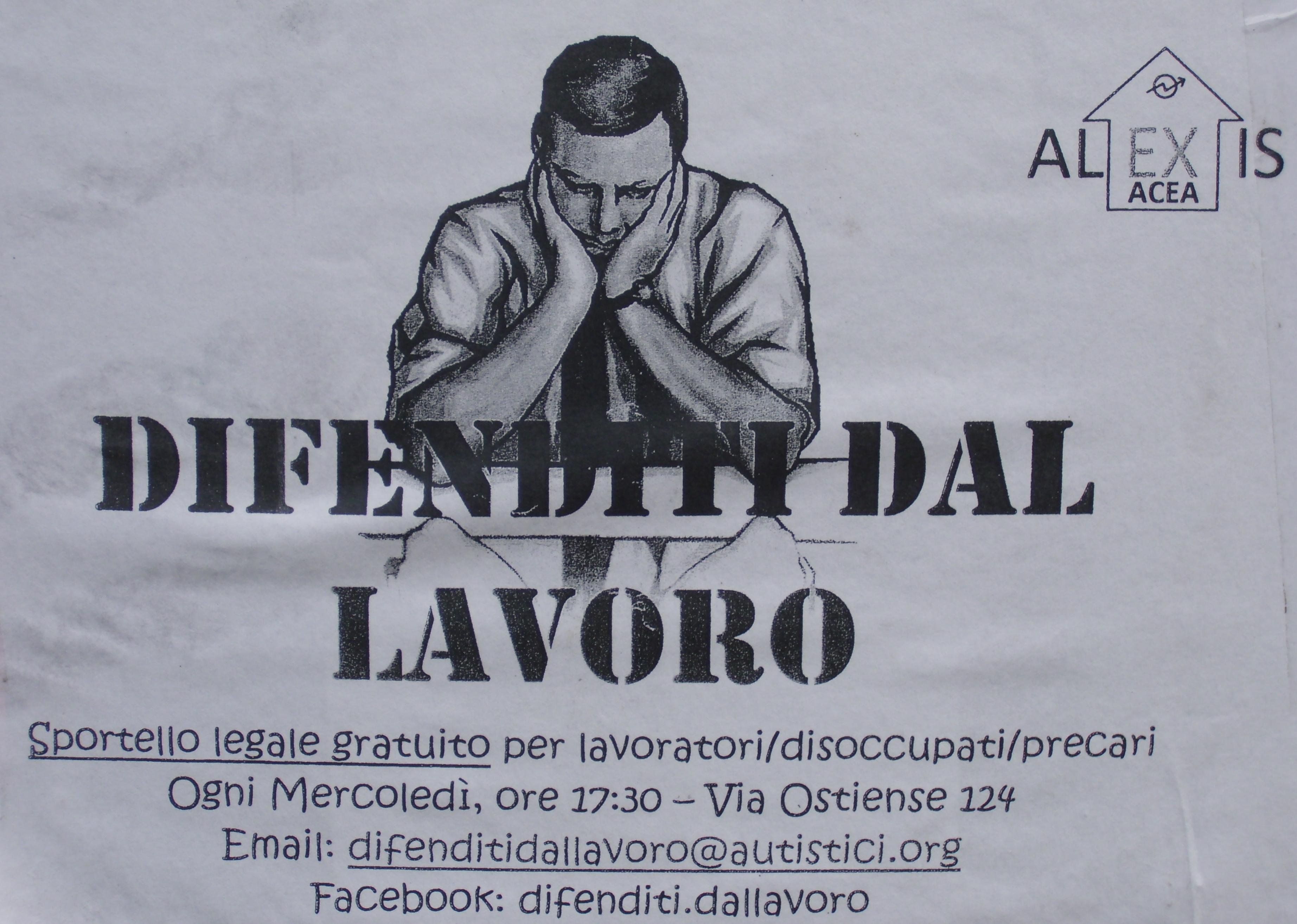 Selbstorganisierte Arbteits- und Arbeitslosenberatung im römischen Stadtteil Garbatella