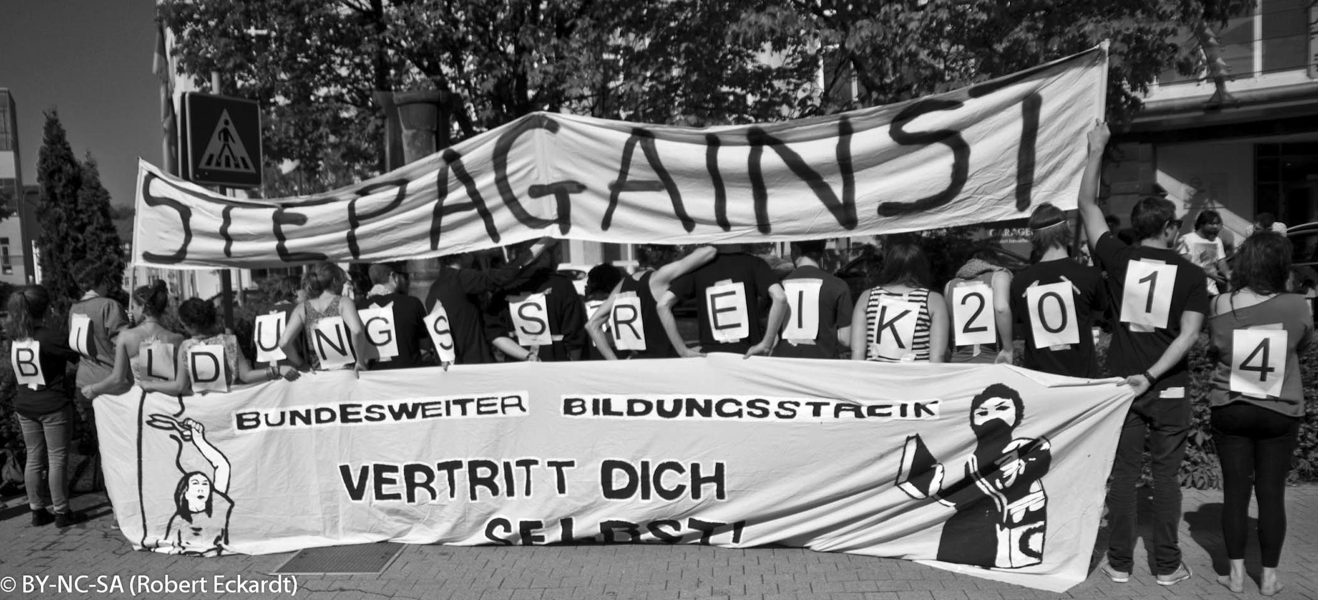 Aktion vom 20. Mai: der Bildungsstreik 2014 ist eröffnet