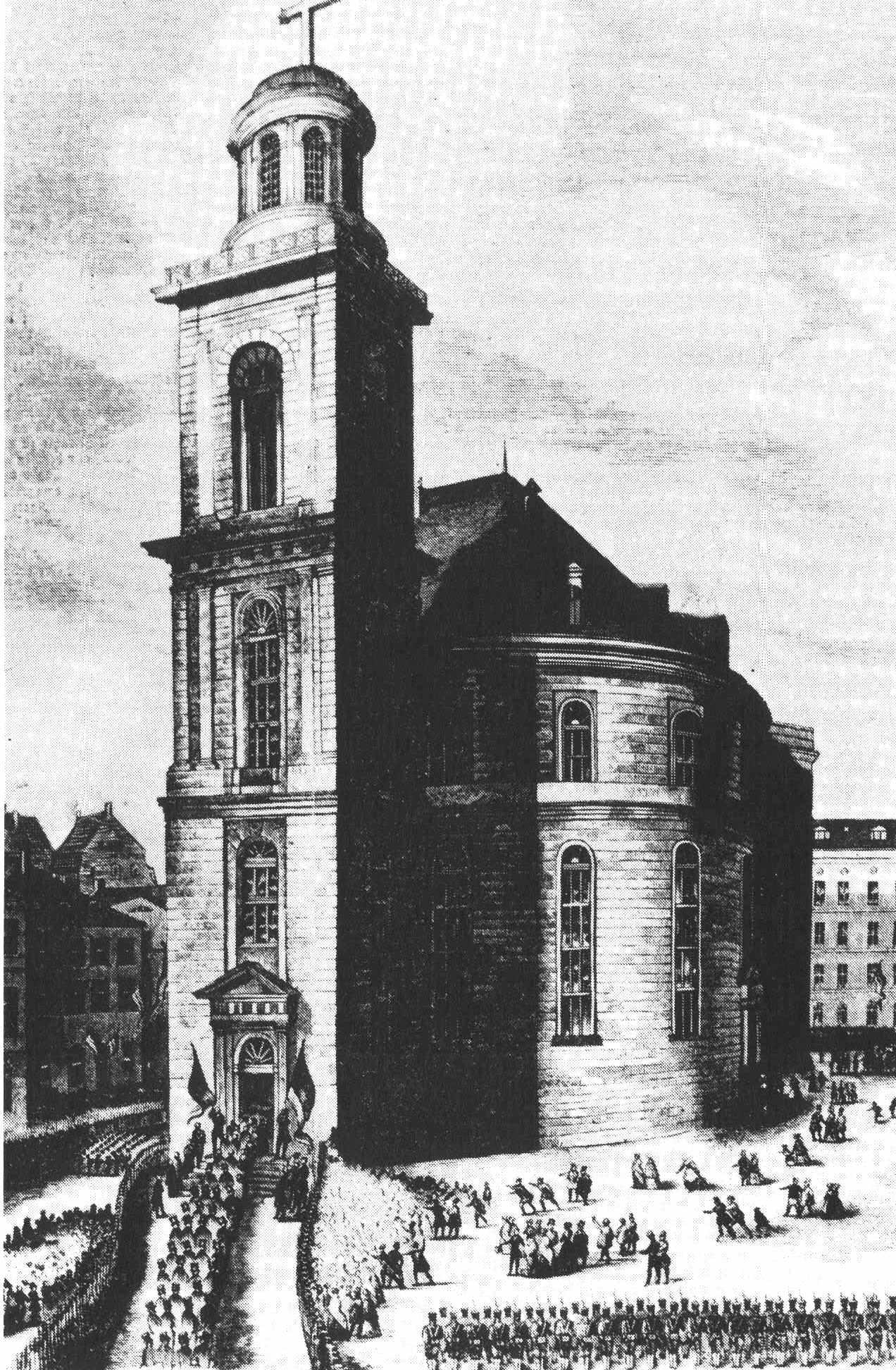 Die Frankfurter Paulskirche als Sinnbild für den bürgerlichen Ursprung - schon um 1848 wurde in der Nationalversammlung über betriebliche Mitbestimmung debattiert