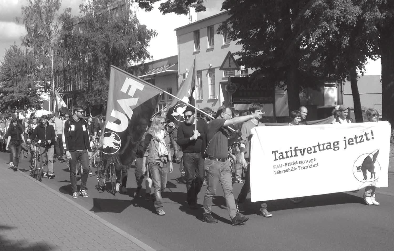 Die Praxis gibt klare Antworten: FAU Frankfurt kämpft wie hier am 21. Mai für einen Tarifvertrag
