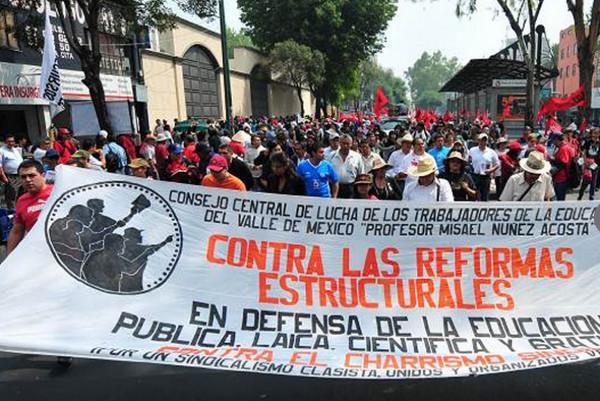 Lehrer_innenprotest in Mexiko