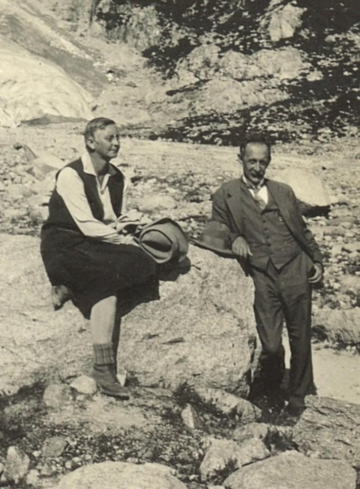 Max Tobler und seine Ehefrau, die Ärztin und Frauenrechtlerin Minna Christinger, ca. 1922