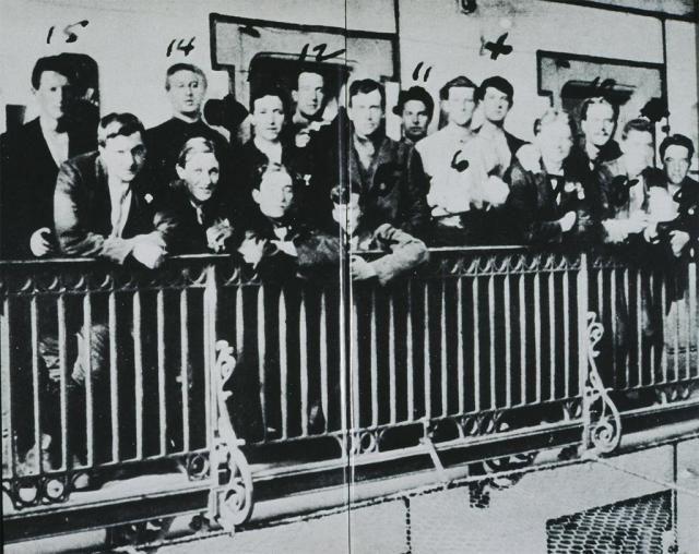 Irische Soldaten in Stafford Gaol nach dem gescheiterten Osteraufstand von 1916