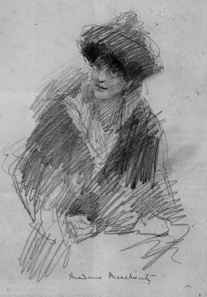 Constance Markiewicz, Zeichnung des Dichters Yeats