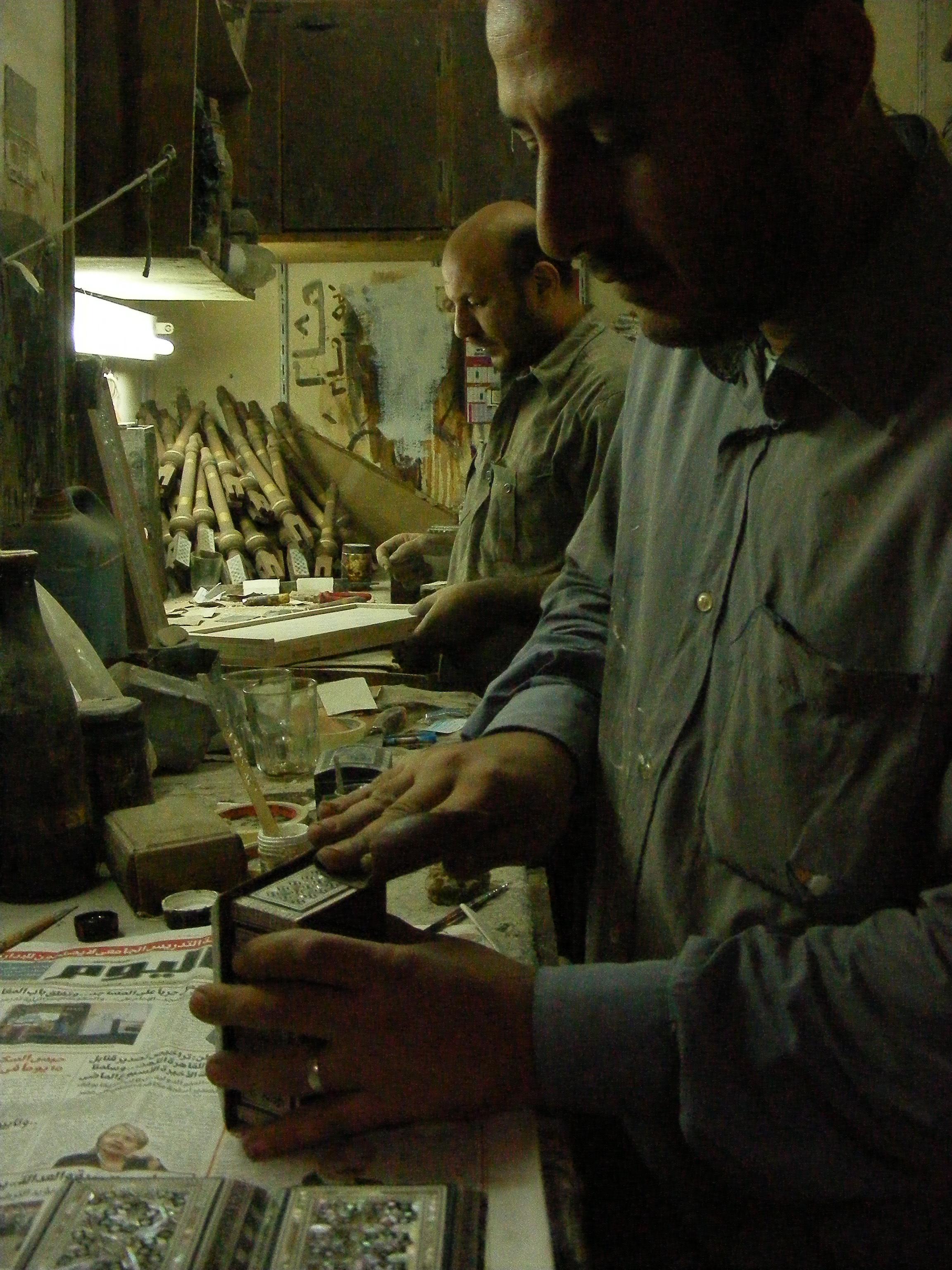 Ägyptische Handwerker bei der Arbeit
