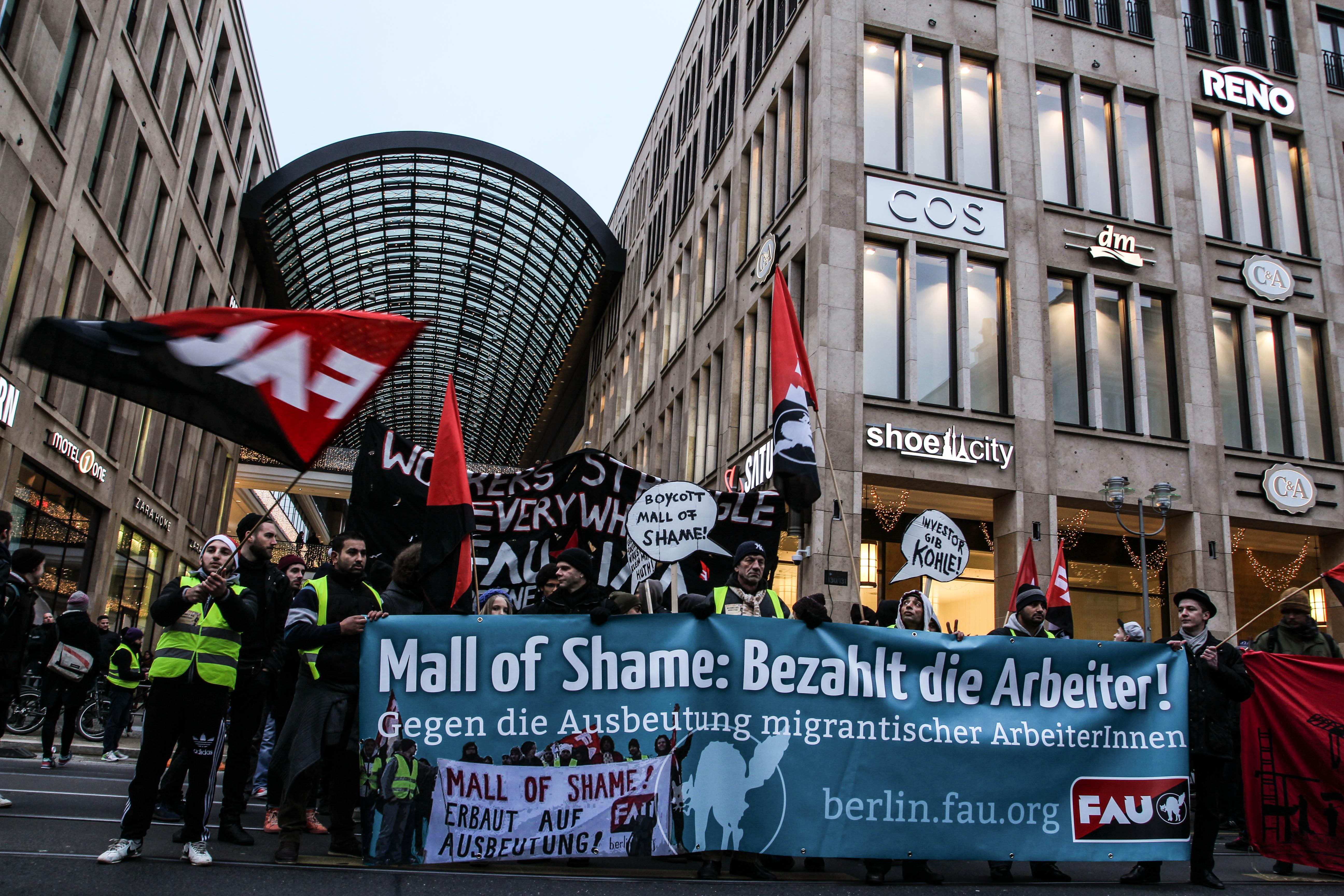 Mall of Shame: Bezahlt die Arbeiter!