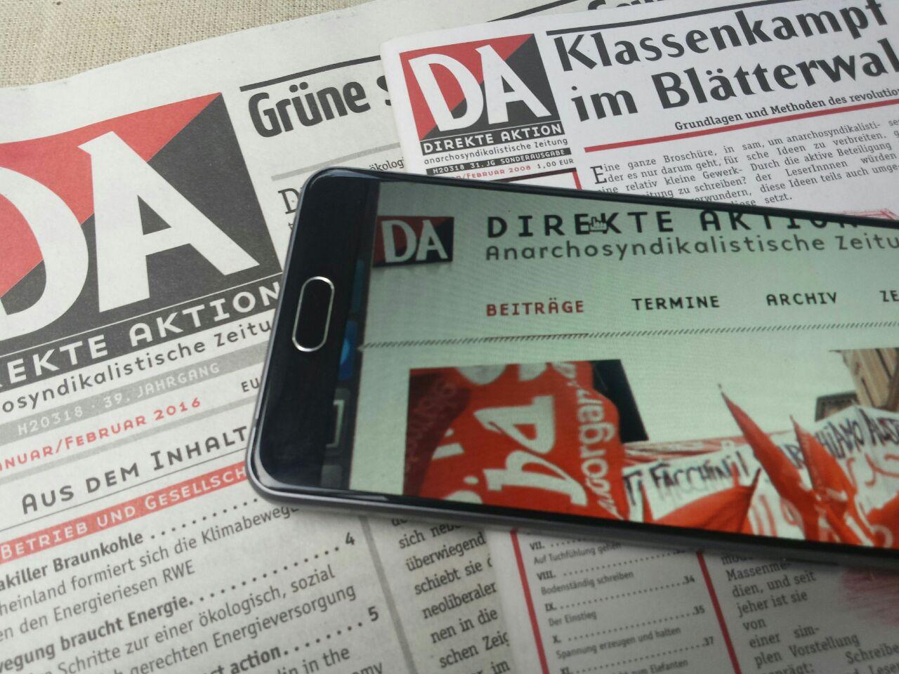 Zur Zeitung ⋆ Direkte Aktion
