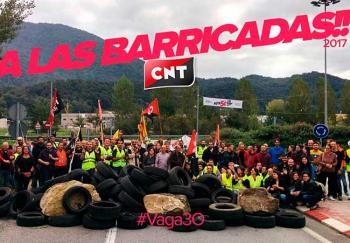 CNT: A las Barricadas!! 2017 #vaga30