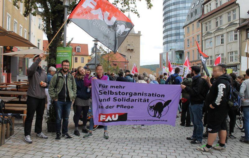 """Demonstration der """"Pflegekräfte in Not"""" unter Beteiligung der FAU Jena"""