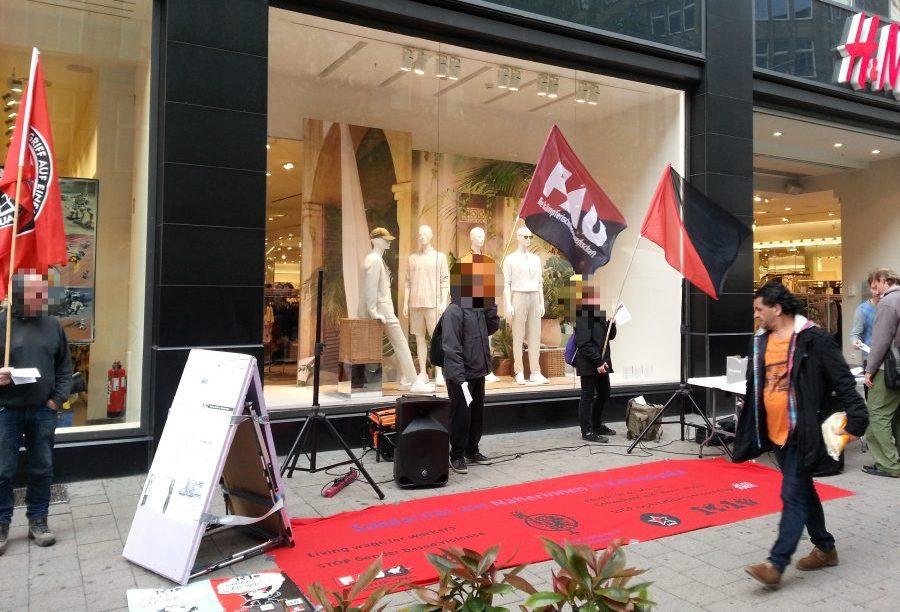 Protestkundgebung vor H&M in Hamburg am 2. Mai 2019