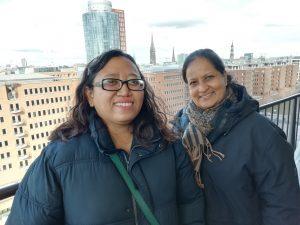 Dian und Chamila in Hamburg