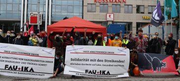 Solidarität mit den Streikenden!
