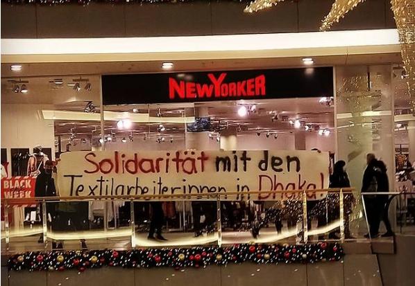 Soli-Aktion in Rostock